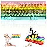 Pop Bubble Sensory Fidget Toy, Silicona Sensorial Fidget Juguete, Empujar Burbuja Sensorial Fidget Autismo Aliviador estrés Juguetes Educativos para Niños Adultos (Teclado B)