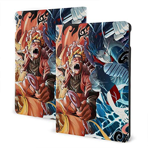 Anime Naruto Tablet Case 10.2 in Non-Slip Ultra Thin Standing Automatic Wake/Sleep TPU Back Cover Notebook Protective Cases