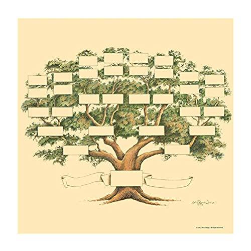 CLFYOU Stammbaum-Diagramm 6 Generationen Stammbaum-Diagramm für Familiengeschichte und Ahnen