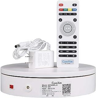 ComXim 360 Grad Drehteller für Produktfotografie, 20 kg Kapazität, 20 cm Durchmesser, Fernbedienung Winkel, Geschwindigkeit, Richtung, verschiedene Rotationsmodi
