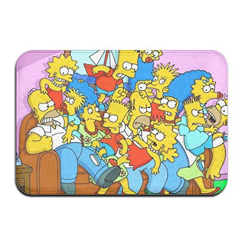 HAOHAODE - Felpudos antideslizantes para puerta de casa, 40 x 60 cm, diseño de dibujos animados de los Simpsons