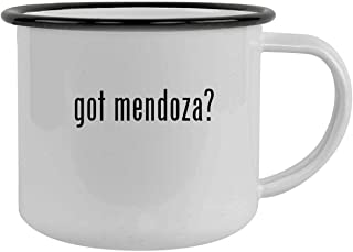 got mendoza? - 12oz Camping Mug Stainless Steel, Black
