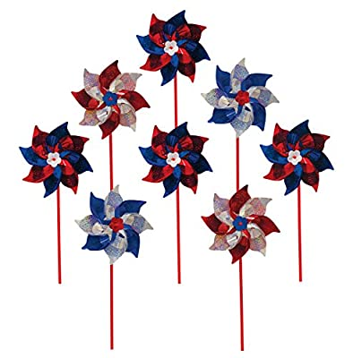 In the Breeze Colorful Mylar Pinwheels