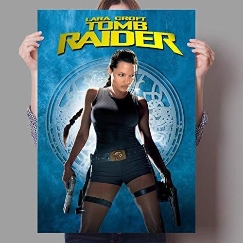 Fymm丶shop Película Clásica De Acción Y Aventuras Tomb Raider Family Canvas Poster Angelina Jolie 40X50Cm (-K143)