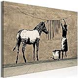 murando - Bilder Banksy Washing Zebra Stripes 120x80 cm