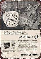 ティンサイン1953 GE目覚まし時計General ElectricCollectible Wall Art