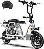 Elektrofahrrad, Dreisitzer Elektro-Scooter for Erwachsene 12-Zoll-Folding elektrischen Fahrrad mit...