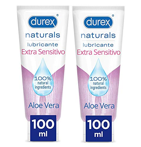 Lubricante Intimo Durex Naturals Extra Sensitivo 100 ml x 2 Unidades