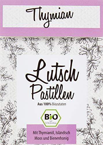 Aries BIO Thymian Lutschpastillen – Halsbonbons mit Isländisch Moos Extrakt und Bio Thymianöl – 30g