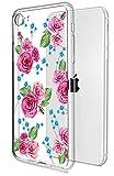 Muntonski , weich, transparent, kompatibel mit Apple & , , Silikon, ultradünn, Slim Fit, Rose Blumen Cover SE 2. Generation SE2 TPU transparent - 11,9 cm