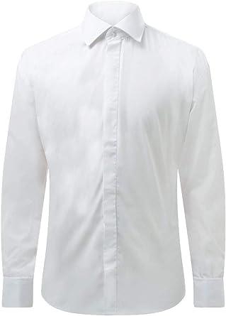 Dobell Camisa Blanca Entallada con Cuello Clásico