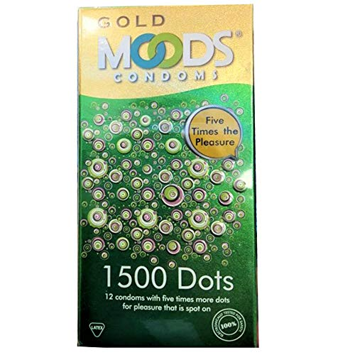 MOODS GOLD 1500 Dots Condoms - 12 Kondome mit 1500 Noppen