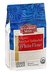 Arrowhead Mills Flour 95% organic Unbleached White 32 oz (pack of 6 ) ( Value Bulk Multi-pack)