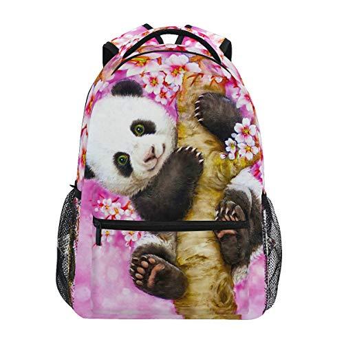 Panda Animal Backpack Pink Cherry School Bookbag for Boys Girls 2022101