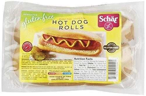 SCHAR ROLL HOT DOG, 8 OZ