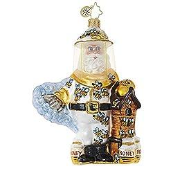 Christopher Radko Bee Calm, Santa! Santa Claus Christmas Ornament