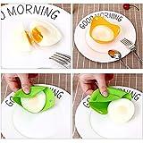4 Piezas Moldes de Silicona para Escalfar Huevos,Utensilios de Cocina para Microondas,Tazas de Silicona para Huevos Escalfados,Escalfadores de Huevos para Cocinar Huevos Escalfados Perfectos.
