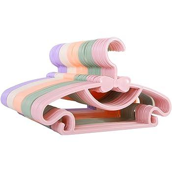 Rose Organisateur V/êtements Multifonctionnel Antid/érapant Porte Manteau B/éb/és et Adultes 8 en 1 Bamny Cintre Pliable Extensible Rangement Magique et Cr/éatif