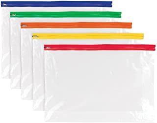 Tiger clear multi purpose zip lock zippy bag A3 size - single bag - assorted colours