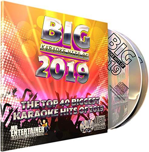 Mr Entertainer Big Karaoke Hits of 2019 - Double CD+G (CDG) Pack. 40 Top Songs. Vierzig Pop-Karten-Songs