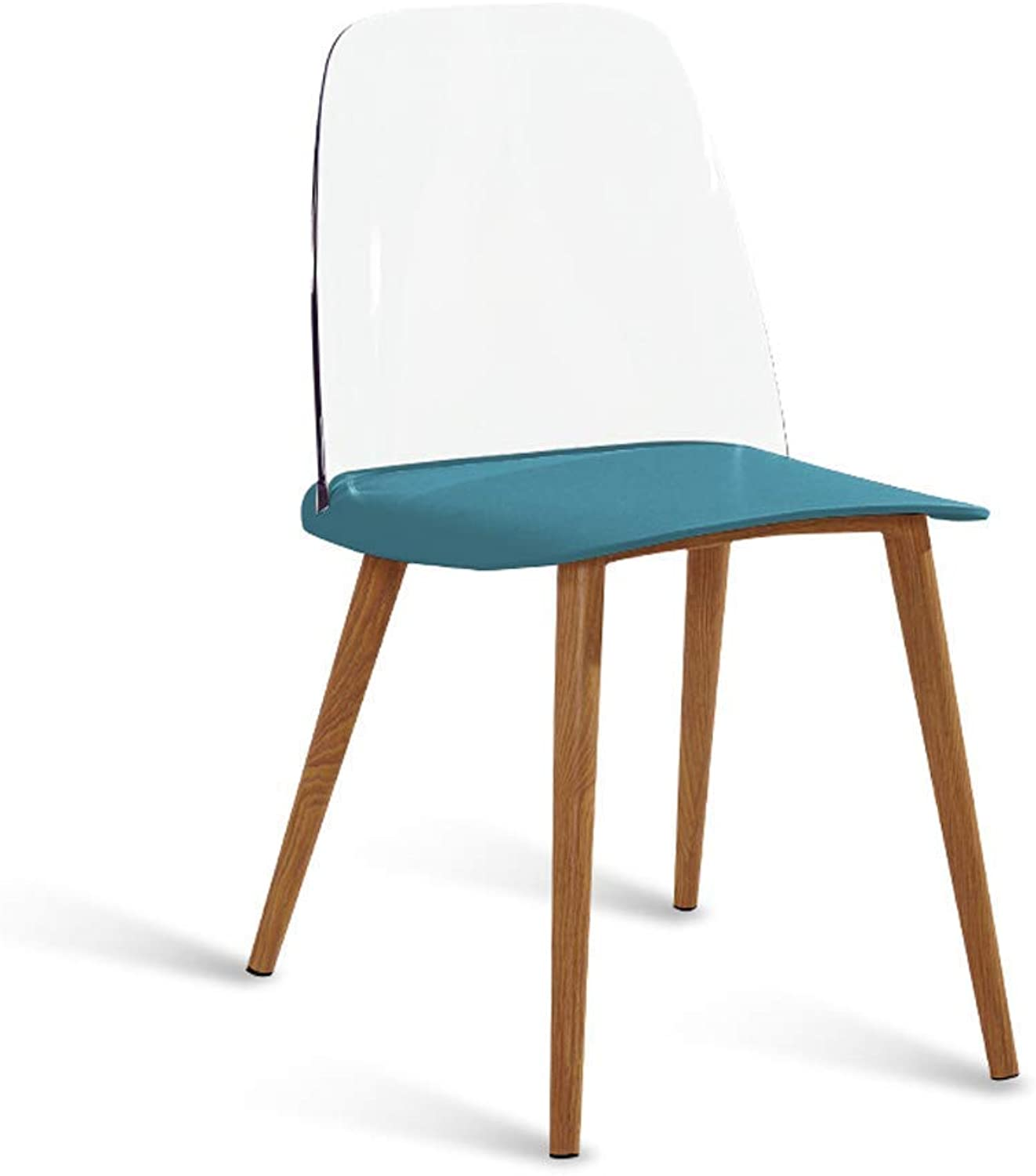 Chair- Fashion Nordic Danish Designer Dining Chair to Discuss Casual Home Creative Personality Modern Minimalist Chair Chair,bluee