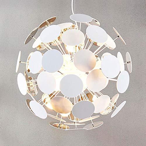 Lindby Pendelleuchte 'Kinan' dimmbar (Modern) in Weiß u.a. für Wohnzimmer & Esszimmer (5 flammig, E14, A++) - Deckenlampe, Esstischlampe, Hängelampe, Hängeleuchte, Wohnzimmerlampe