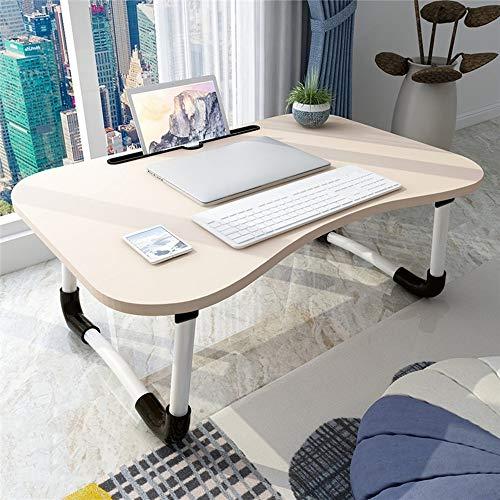 Escritorio para computadora portátil para mesa de cama Bandeja para cama para computadora portátil Escritorio para computadora Escritorio de regazo con patas plegables para uso en casa Sofá cama ,a