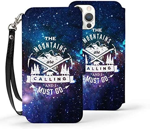 The Mountains are Calling and I Must Go iPhone 12 iPhone 12 Pro Max Wallet Case Leather Card product image