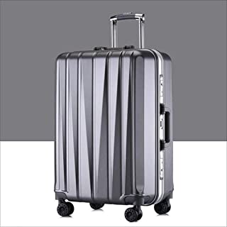 "Ysswjzz 24"" Super Lightweight 4 Wheel Spinner Check-in Hold Luggage Suitcase Travel Trolley Case (Color : Grey)"