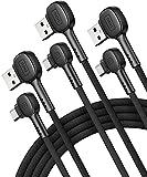 Cavo USB Type-C 90 Gradi, INIU [3 Pezzi 0,5+2+2m] 3,1A QC3,0 Ricarica Rapida Cavo USB Type-c 90 Gradi, Nylon Intrecciato Cavo Dati Caricatore compatibili con Samsung Galaxy S21 S20 Xiaomi Huawei ECC.
