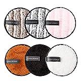 Qoosea 6 Pcs Coton Demaquillant Lavable, Kit Tampons Démaquillants Biologique, Éponge...