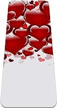 Yoga Mat - achtergrond harten - Extra dikke antislip oefening & fitness mat voor alle soorten yoga, pilates & vloertrainingen