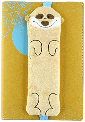 NICI 41444 Erdmännchen Notizbuch DIN A5 mit abnehmbarem Einband und Stiftemäppchen, Farbe: Braun, 20 x 7 cm