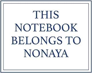 This Notebook Belongs to Nonaya