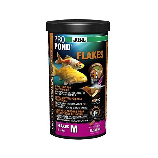 JBL Futter für alle Teichfische, Schwimmende Futterflocken, Funktionsfutter, ProPondFlakeS