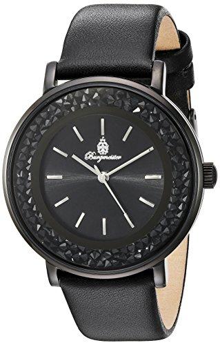 Burgmeister Armbanduhr für Damen mit Analog Anzeige, Quarz-Uhr und Lederarmband - Wasserdichte Damenuhr mit zeitlosem, schickem Design - klassische, elegante Uhr für Frauen - BM537-622 St. Lucia