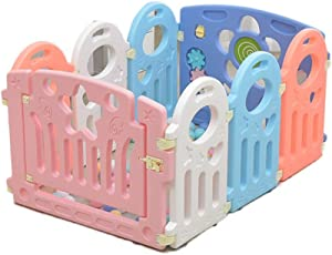 HWZPPP KJZhu Infant Game Fence  Bedroom Living Room Baby Crawl Learning Walk Protective Fence Indoor Playground Ocean Ball Pool 40-80CM Foldable
