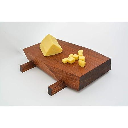 Tabla de madera parota para cortar, picar, servir y presentar. Tabla para Quesos o carne