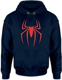 WearIndia Unisex Super Hero Spider Printed Cotton Hoodies Sweatshirt for Men and Women/Printed Red Hoodie/Graphic Printed Hoodie/Hoodie for Men & Women/Warm Hoodie/Unisex Hoodie