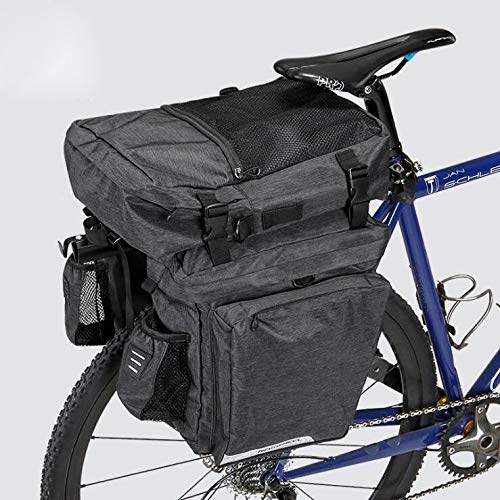 Affordable YUYAXBG Fashion Rear Bicycle Pannier Bag Bike Rear Seat Trunk Bag Double-Sided Large-Capa...