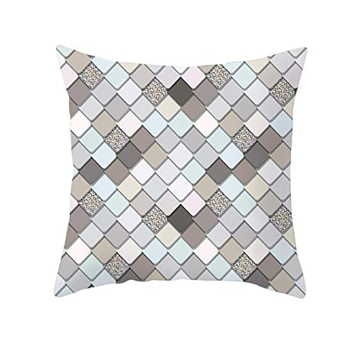 JHJFD Pillow Cover Lattice Christmas Cushion Covers 18 X 18 Inch / 45Cm X 45Cm Decorative Cushion Covers With Invisible Zipper For Sofa Couch Bed (Without Pillow Core)