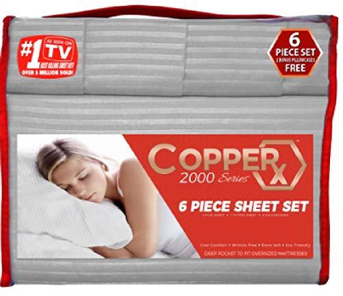 Copper X 6 Piece Sheet Set Queen (Grey) 2000 Series