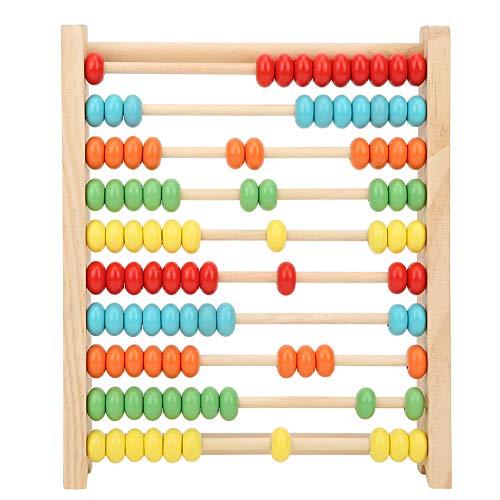 Fockety Juguete para niños, Mejora el Entrenamiento Visual Ábaco de Madera para niños, Hecho de Material de Calidad Promoción temprana de Contar niños en casa Jardín(Pine Colorful Calculation Frame)