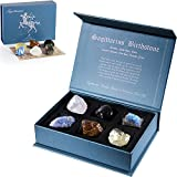 Faivykyd Sagittarius Crystal Gift-Zodiac Sign Stones to Complement The Birthstone-Natural Healing Crystals with Horoscope Box Set