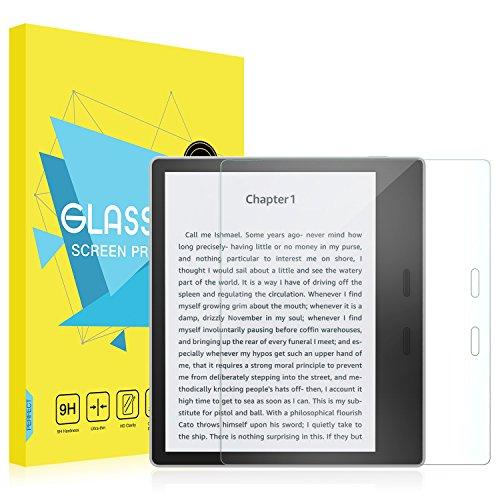 MoKo Folie Kompatibel mit Der Neue Kindle Oasis (10. & 9. Gen, 2019 & 2017 Modell NUR) - Klar HD 9H Panzerglas Bildschirmschutzfolie Schutzfolie Glasfolie für Amazon Kindle Oasis 7