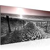 Wandbilder Strand Meer Sonnenuntergang Vlies Leinwand