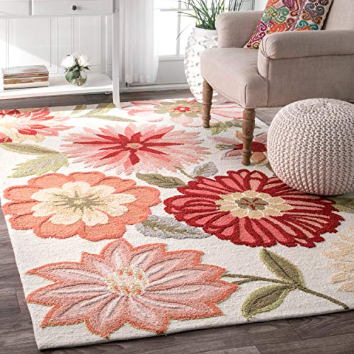 nuLOOM Springs Hand Tufted Area Rug, 6' x 9', Pink