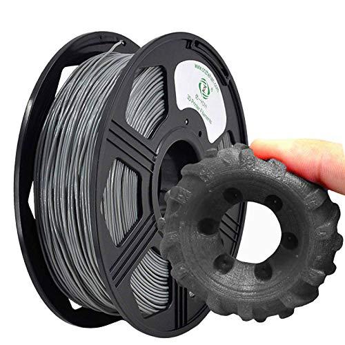 YOYI Filamento TPU 1,75 mm, TPU flessibile filamento 1,75 mm, TPU filamento stampante 3D flessibile 1 kg, Precisione Dimensionale +/- 0,02 mm( grigio)