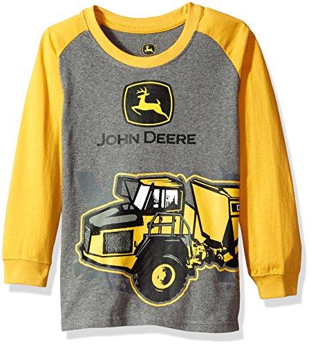 John Deere Boys' Little Long Sleeve Raglan Tee, Yellow, 7