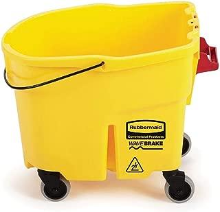 Rubbermaid Wavebrake Mop Bucket with Caster Kit, 35 Qt, Lot of 4